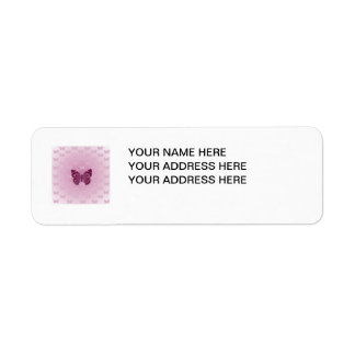 Purple Butterfly Custom Return Address Label