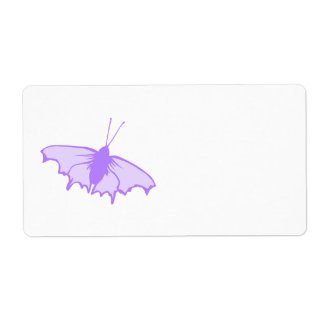 Purple Butterfly. Personalized Shipping Label