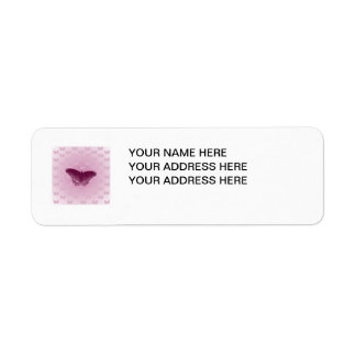 Purple Butterfly Return Address Label