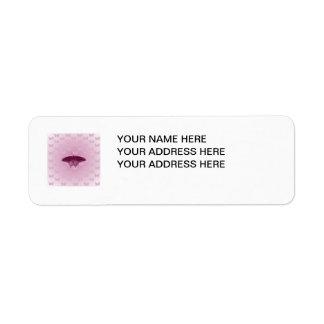 Purple Butterfly Custom Return Address Labels