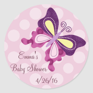 Purple Butterfly Lane Stickers/Envelope Seals