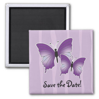 Purple Butterfly magnet Save the Date