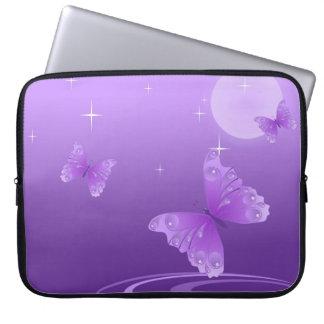 Purple Butterfly on the Dewy Lake Laptop Sleeve