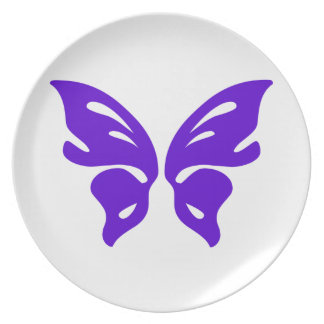 Purple Butterfly Party Plate