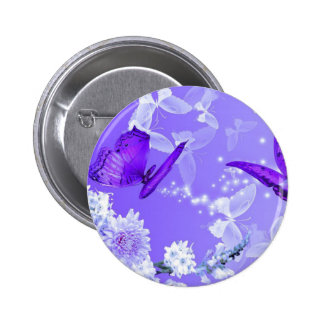 Purple Butterfly scene 2 Inch Round Button