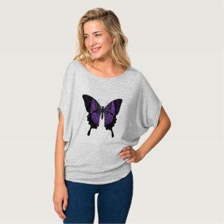 Purple Butterfly Shirt For Women
