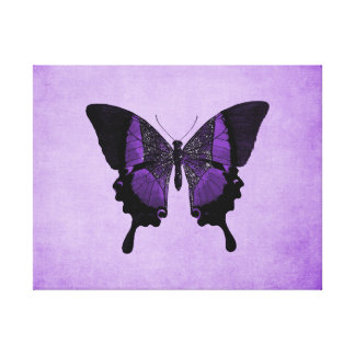 Purple Butterfly Texture Canvas Print
