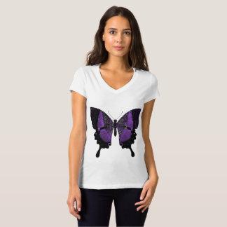 Purple Butterfly VNeck Tshirt