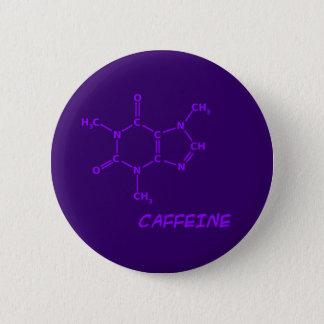 Purple Caffeine Molecule Button
