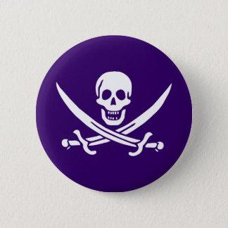 Purple Calico Jack 2 Inch Round Button