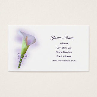 Purple Calla Lily Business Cards