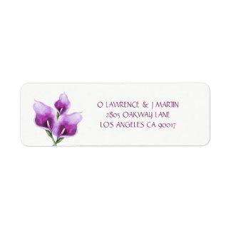 Purple Calla Lily Floral Watercolor
