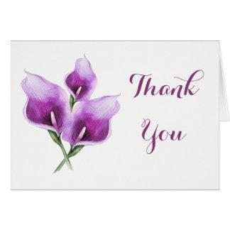 Purple Calla Lily Thank You Card