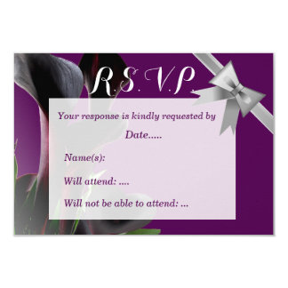 Purple Calla Lily Wedding Card
