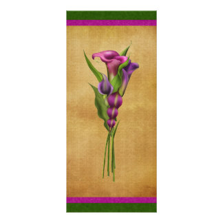 Purple Callas Custom Rack Cards