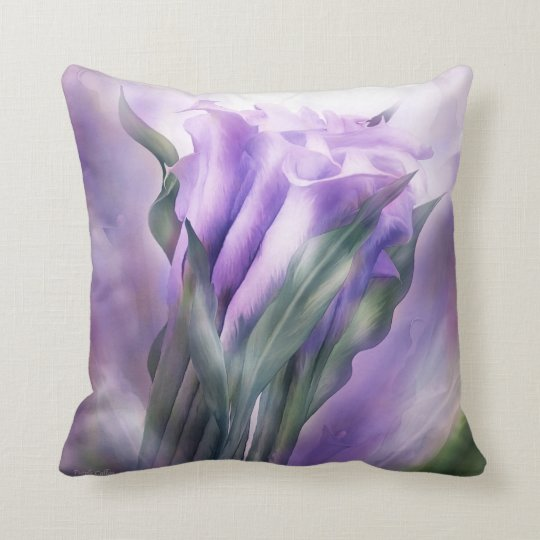Purple Callas Decorator Art Pillow