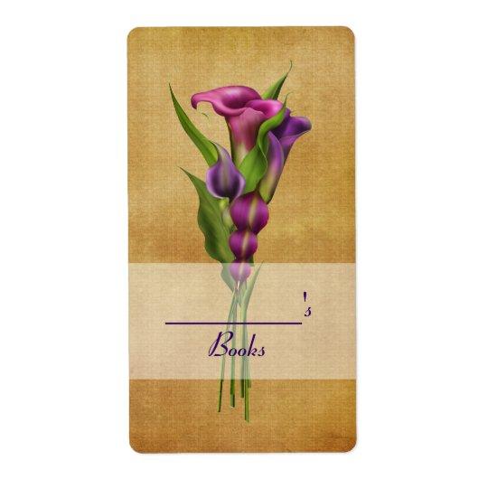 Purple Callas Shipping Label