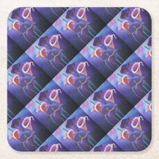 Purple Callas Square Paper Coaster