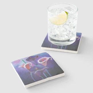 Purple Callas Stone Coaster