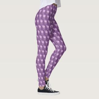 Purple camel graphic art pattern leggings