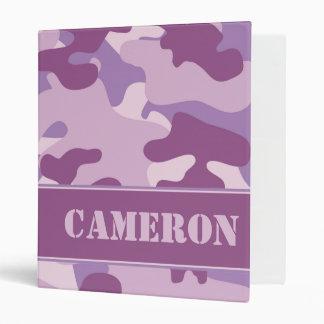 Purple Camo (Camouflage) | Personalized Binder
