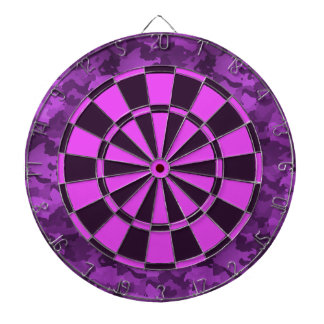 Purple Camo Dartboard