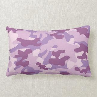 Purple Camo Design Lumbar Pillow