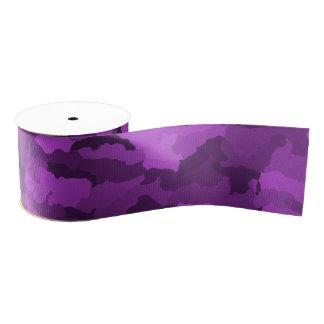 Purple Camo Grosgrain Ribbon