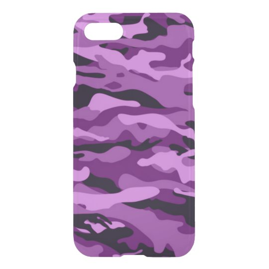 PURPLE CAMO iPhone 7 Deflector Case BEALEADER