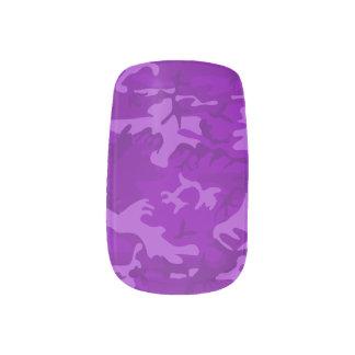 Purple Camo Minx Nail Art