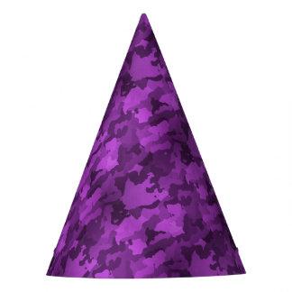 Purple Camo Party Hat