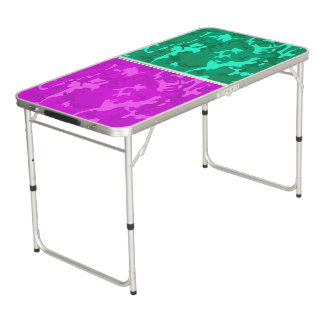 Purple Camo vs Turquoise Camo Beer Pong Table