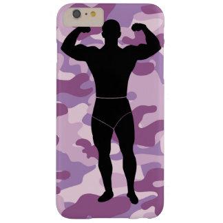 Purple Camo with Bodybuilder Iphone Case