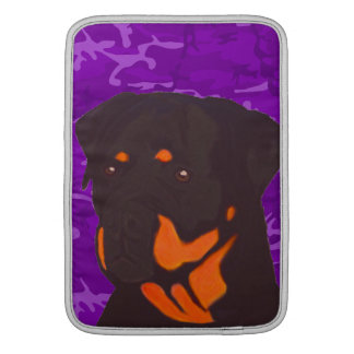 Purple Camo with Rottweiler MacBook Air Sleeves