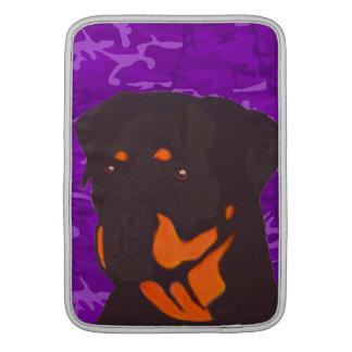 Purple Camo with Rottweiler MacBook Air Sleeves