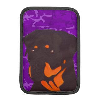Purple Camo with Rottweiler Sleeve For iPad Mini