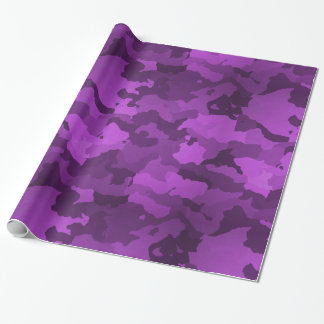 Purple Camo Wrapping Paper