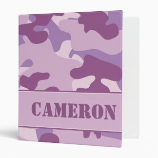 Purple Camouflage (Camo) | Personalized 3 Ring Binders