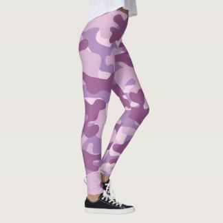 Purple Camouflage Leggings