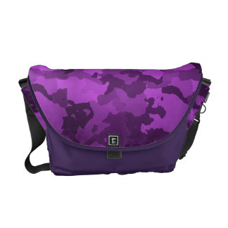 Purple Camouflage Messenger Bag