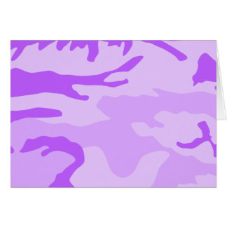 Purple Camouflage Pattern Card