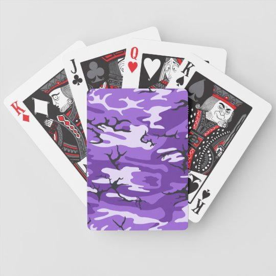 Purple Camouflage Playing Cards