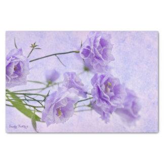 Purple Campanella Flowers Macro Tissue Paper