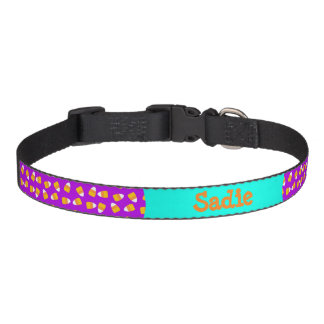 Purple Candy Corn All over dog collar