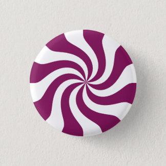 Purple Candy Swirl 1 Inch Round Button