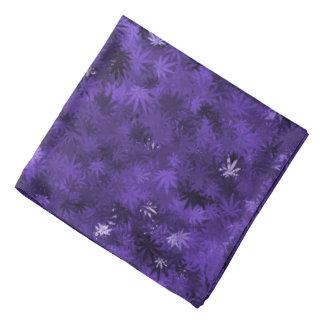 Purple Cannabis Leaf Bandana