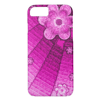 Purple Canvas Wall Flowers iPhone 7 Case
