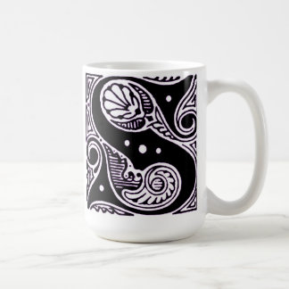 Purple Capital letter 'S' - Mug