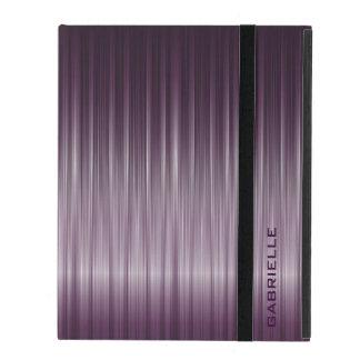 Purple Carbon Fiber Look iPad Case