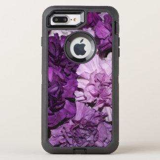 Purple Carnation Flowers OtterBox Defender iPhone 8 Plus/7 Plus Case